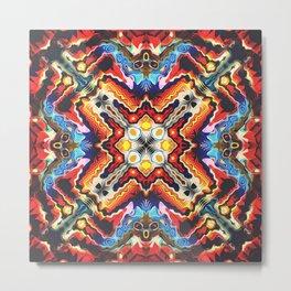 Colorful Tribal Motif Metal Print
