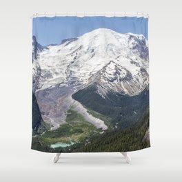 Mount Rainier on the Sunrise Side Shower Curtain