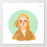 tenenbaum Canvas Prints featuring Margot Tenenbaum by Galaxyspeaking