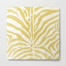 Painted Zebra Metal Print