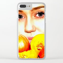 Mylie Eyes Clear iPhone Case