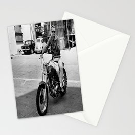 Steve McQueen Motorcycle Stationery Cards