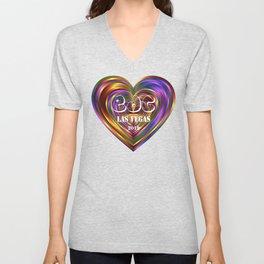 Electric Daisy Carnival Heart Unisex V-Neck