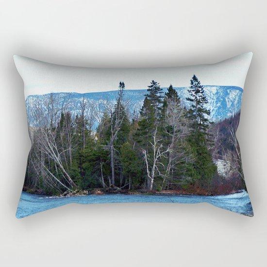 Blue Mountain River Rectangular Pillow