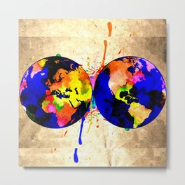 Earth Grunge Metal Print