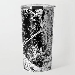 Sasquatch is camouflaged Travel Mug