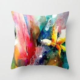 Yellow Flower by Kathy Morton Stanion Throw Pillow