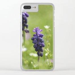 Purple wild flowers Clear iPhone Case