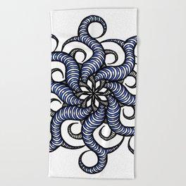 Reverse in blue Beach Towel