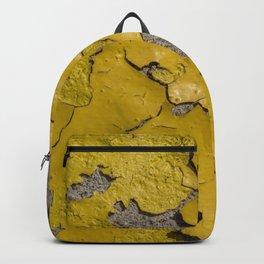 Yellow Peeling Paint on Concrete 3 Backpack