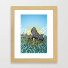 Morel Mushroom Disc Golf basket Framed Art Print