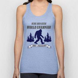 Hide and Seek World Champion Bigfoot Unisex Tank Top