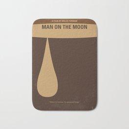 No675 My Man on the Moon minimal movie poster Bath Mat