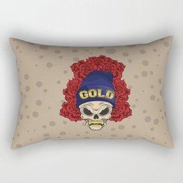 MAD SKULL GOLD Rectangular Pillow