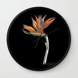 Bird of Paradise 01b Botanical Flower Wall Clock