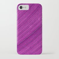banana leaf iPhone & iPod Cases featuring purple banana leaf by blackpool