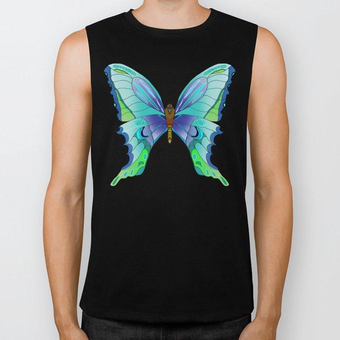 Butterfly Blues Biker Tank