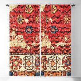 Konya Anatolian 18th Century Rug Fragment Print Blackout Curtain