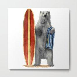 Polar Surfer Metal Print