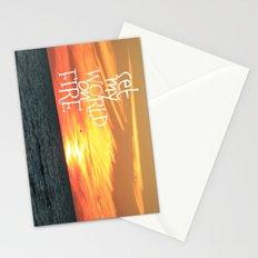 set my world on fire Stationery Cards