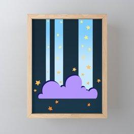 The night when stars falling down Framed Mini Art Print