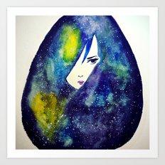 Starry Girl  Art Print