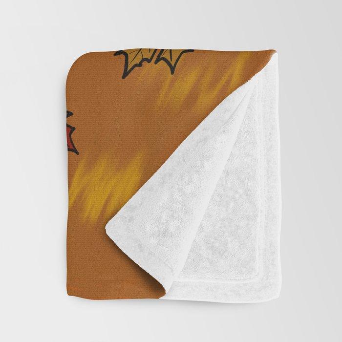 Schnauzer In Fall Leaves Throw Blanket