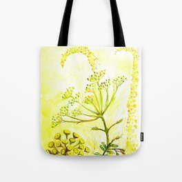 Tansy and Great mullein Tote Bag