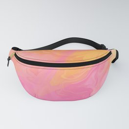 MAGNOLIA bubblegum pink and tangerine orange watercolour Fanny Pack
