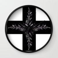 cross Wall Clocks featuring cross by Кaterina Кalinich