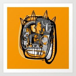 Fiesta Face Art Print