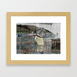 Man and His dog 2 Framed Art Print