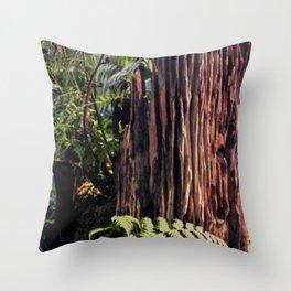 Rotting Wood Throw Pillow