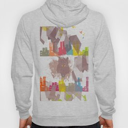 """the wolf in the town"" Hoody"
