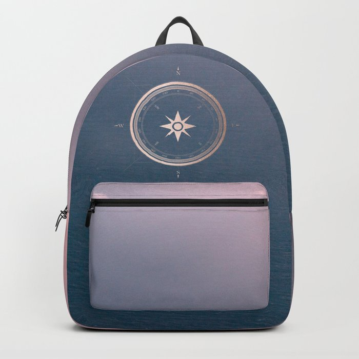 The Edge of Tomorrow - Rosegold Compass Backpack