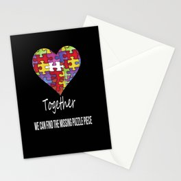 Together we can find the missing puzzle piece Stationery Cards