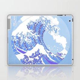 Great Wave Off Kanagawa Blue and White Volcano Eruption Laptop & iPad Skin