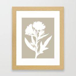 Silphium in Dove Gray - Original Floral Botanical Papercut Design Framed Art Print