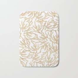 Gold Coral Ferns Bath Mat