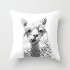 Alpaca Photograpgy, Alpaca Art Print, Animal Art, Animal Portrait, Animal Photography, Nursery Art Throw Pillow