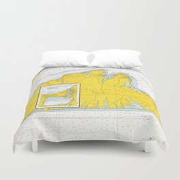 Vintage Map of Martha's Vineyard (1967) Duvet Cover