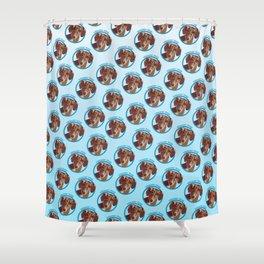 Wiener Dog Print Shower Curtain