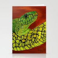 snake Stationery Cards featuring Snake by maggs326