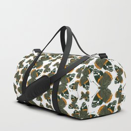 Red admiral butterfly  pattern Duffle Bag