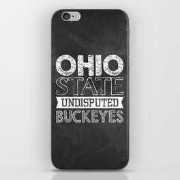 Undisputed Buckeyes iPhone Skin