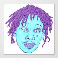 wiz khalifa Canvas Prints featuring WIZ by Mitch Meseke