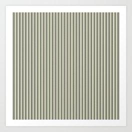 Trendy French Beige Mattress Ticking Black Double Stripes Art Print
