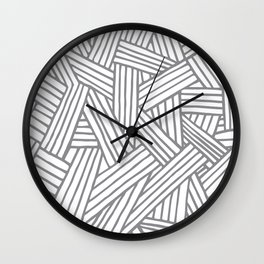 Inter Lines Gray Wall Clock