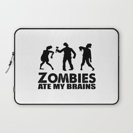 zombies ate my brains Laptop Sleeve