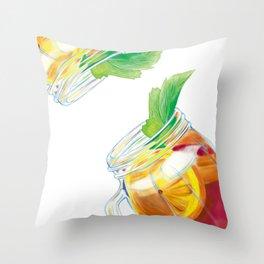 Summer Cocktail Throw Pillow